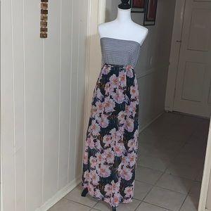 Xhilaration long strapless dress size XL